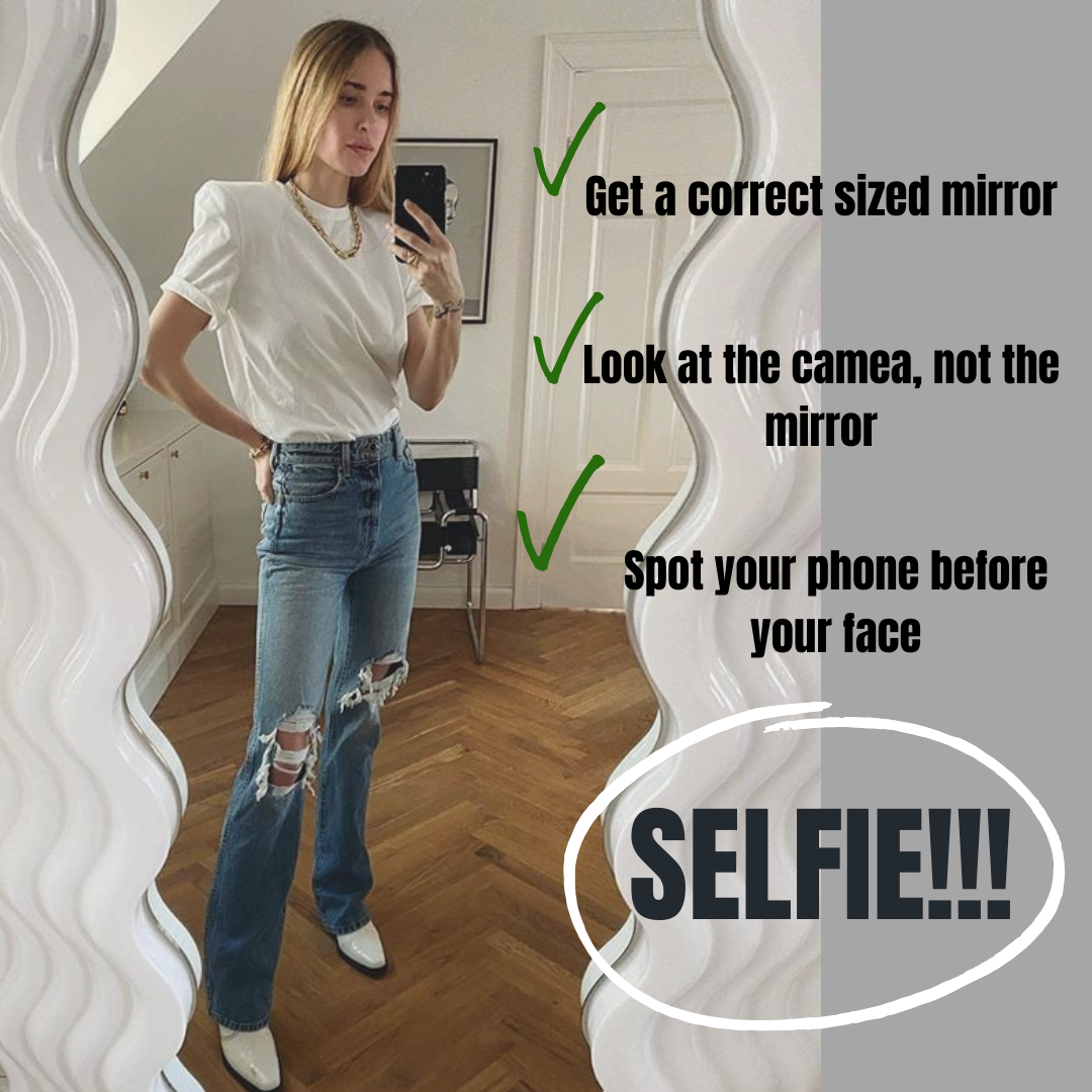 How to take a full-length selfie with a mirror?